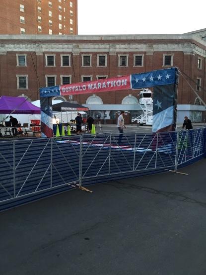Finish Line at the Buffalo Marathon